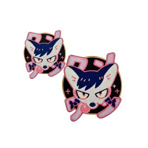China High Density Polyester Iron On Clothing Brand Patch , Custom Embroidery Patch on sale