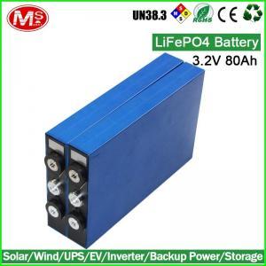Lithium UPS LiFePO4 Battery Cells / 3 2v 80Ah Lifepo4