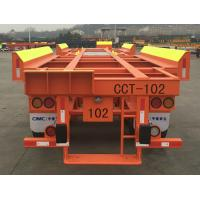 Solid Tyre Flatbed Container Trailer 45ft 2 Axles Container Transport Trailer