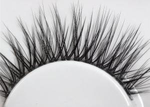 China Handmade Invisible Band Eyelashes , Lightweight 3D Mink Eyelash Extensions on sale