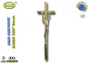 China Zamak cross and crucifix zinc alloy coffin decoration funeral accessories D007 55*17cm on sale
