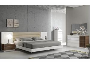 China Solid Veneer High Gloss Bedroom Furniture Easy Self - Assembly supplier