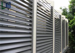 China Aluminum Frame Plantation Shutter Aluminum Louvers For External Sun Shading on sale