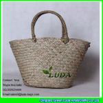 LDSC-030 2016 classical handmade natural seagrass straw basket bag