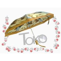 Off - Set Printed Auto Open Close Umbrella Windproof Plastic Rubber Coating Cap