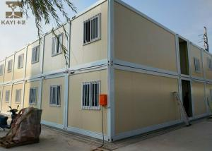 China Yellow And White Storage Container Houses Two Layers With Internal Stairs on sale