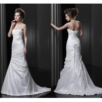 China Beaded Stone Satin Court Train Wedding Dresses Open Back for Ladies , Girls on sale
