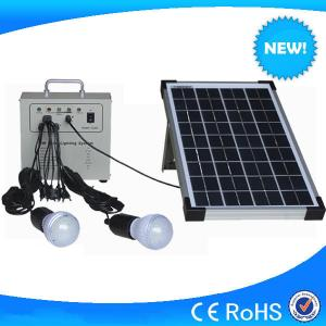 China Mini 10w solar home lighting kits, portable solar system for cheap sale on sale