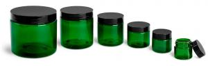 China Plastic Jars,Clear PET Straight Sided Jars/Black Smooth Induction Lined Caps on sale