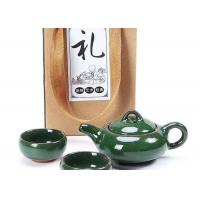 Ceramic Tea Set Gift Packing / Green Ceramic Cup With Teaport