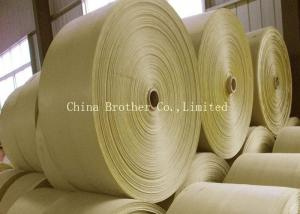 China Brown PP Woven Polypropylene Fabric , Hdpe Woven Fabric Roll Anti - Static on sale