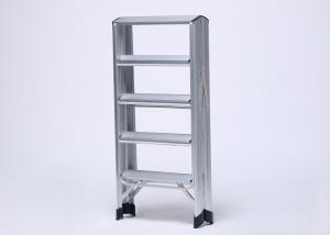 China Multi function washing using straight aluminum ladder silver oxide green on sale