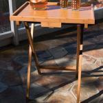 hot sale single folding bamboo tray table