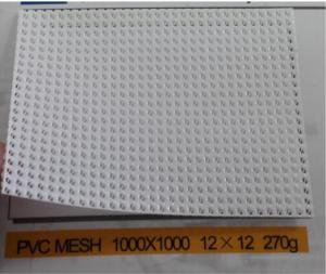 China Ventilative  PVC Coated Polyester Mesh Fabric UV Protection Dipped For Windbreaker on sale