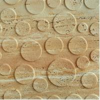 China Natural Travertine 3d architectural wall art panel on sale