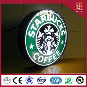 China Quality assurance!Custom plastic material LEDs lighting LED Acrylic coffee Shop sign box wholesale