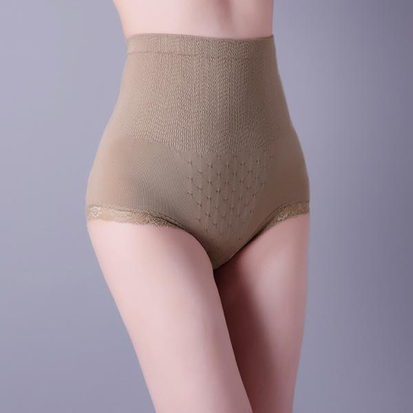 509710540174 Lady brown brief, lace design, soft weave. XLS050 woman body shaper Images