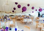 Luxury Wedding Tents Aluminum Profile Lining Deco Different Desk and Table Options