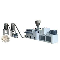 China PVC UPVC CPVC Plastic Pellet Extruder Machine With Hot Cutting System on sale