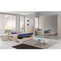 Full Mirror Sliding Wardrobe Free Standing Bedroom FurnitureKing Size For 5 Star Hotels