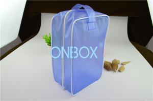 China Carrying Blue Color PVC Gift Bag PVC Handbag  With Zipper Closure / Handle on sale