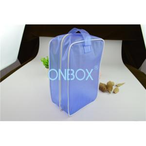 China Carrying Blue Color PVC Gift Bag PVC Handbag  With Zipper Closure / Handle on sale