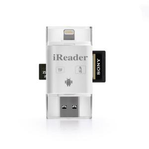 China OTG USB MicroCell Phone Card Reader Grade A Flash Media For IPhone / Android on sale