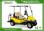 EXCAR Yellow 48V Electronic Golf Carts CHAFTA Approved 3.7KW ADC Motor