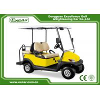 Yellow 48V Electronic Golf Carts CHAFTA Approved 3.7KW ADC Motor
