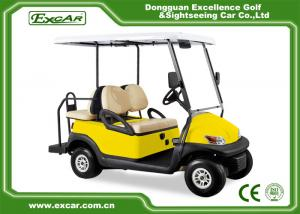 China EXCAR Yellow 48V Electronic Golf Carts CHAFTA Approved 3.7KW ADC Motor on sale