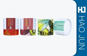China Custom Cardboard Cylinder Tubes Box Glossy Lamination For Tea Package on sale