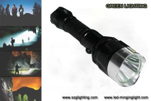 China IP67 10W Rechargeable Torch Light , 25000 Lux 1200 High Lumen Flashlight on sale