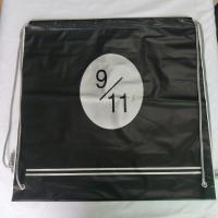 Transparent Rope Bag Rucksack , Black Outdoor Clear Plastic Drawstring Bags