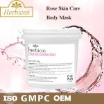 Light Pink Mineral Mud Powder Herbicos Skin Care Face Mask Private Label 600g
