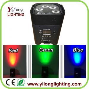 China China Yilong stage light factory 6X18W RGABW+UV mini powered wireless led stage light American dj light on sale