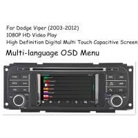 China Stereo Viper Dodge Automobile dvd player , Car DVD GPS Navigation 2003 - 2012 on sale