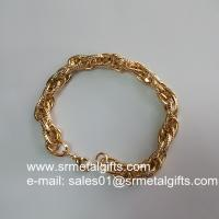 Gold plated steel fashion jewelry twist chain bracelet supplier