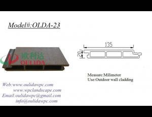 China Plastic wood exterior wall cladding OLDA-23 135*20mm on sale