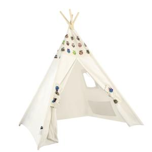 China Tipi Kids Play Tent Teepee 100% cotton fabric kids play house on sale
