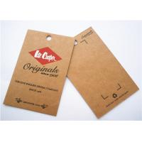 China Durable Clothing Label Tags Logo Printing Cardboard Hang Tags on sale