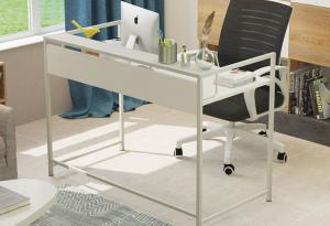 China Simple Steel Wood Desktop Computer Desk For Household , Modern Office Table on sale