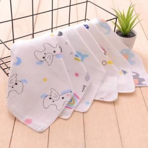 China Printed Newborn Baby Napkins 100 Cotton Easy Wash Customized Carton Size on sale