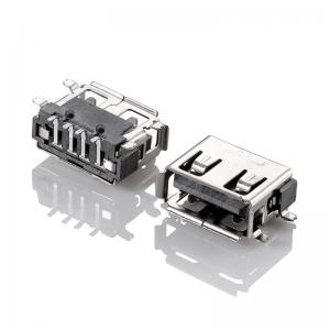 China USB2.0 female connector USB A type female SMT on sale