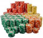 Microprocesadores de la tarjeta del póker del metal para rey Club del póker
