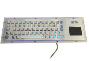 China 66 keys durable S304 industrial metal keyboard with touchpad and blue backlight on sale