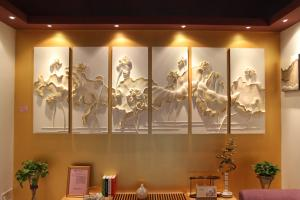 Simply Installation Pu 3d Decorative Wall Panel 60cm 60cm For Sale