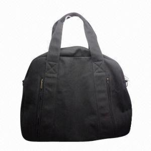 China Black Durable Ladies Canvas Handbags , Spacious Bags For Winter Traveling / Hiking on sale