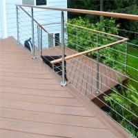 China Brand new stainless steel handrail design for stairs with wire rope design on sale