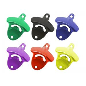 China Cool Innovative Die Casting Zinc Alloy Color Painting Colorful Bar Decoration Wall-mounted Unique Beer Bottle Opener on sale