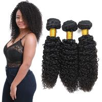 China Genuine Raw Virgin Curly Hair Bundles / Jerry Curly Hair Weave With Closure on sale